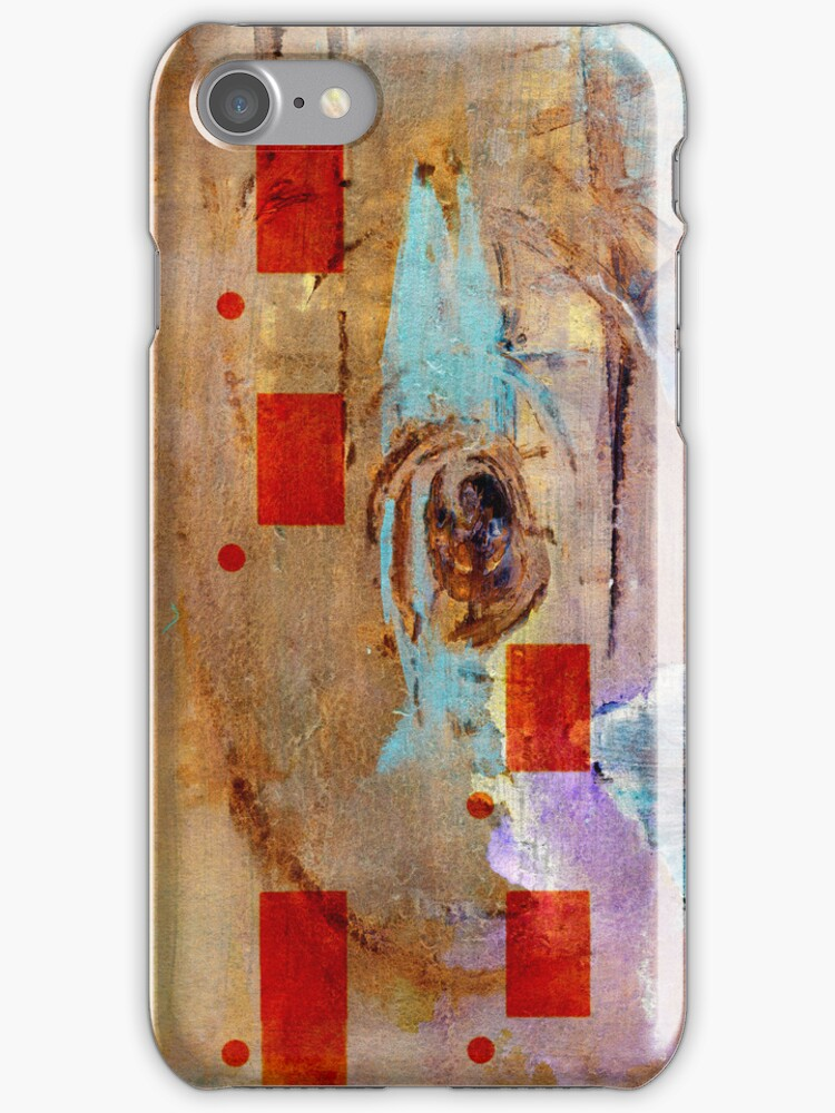 abstract in beige Iphone case by agnès trachet