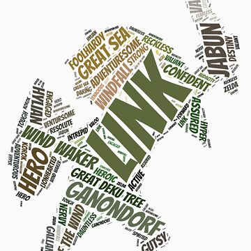 Wordle Toon Link 3 by LinkXavier