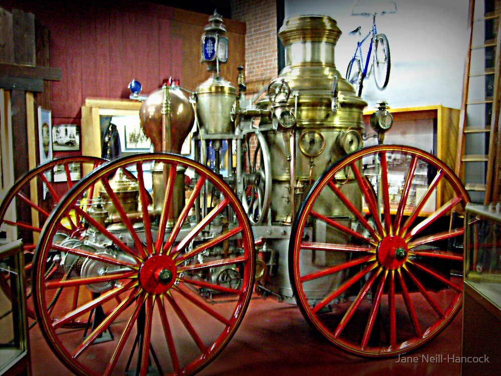 Antique Fire Wagon, Paterson Museum - View 2 by Jane Neill-Hancock