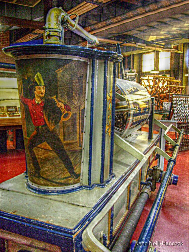 Old Gooseneck, 1821 - Antique Fire Wagon by Jane Neill-Hancock
