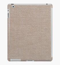 Brown fabric texture iPad Case/Skin