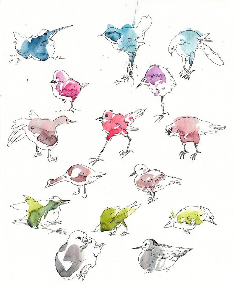 Birds by zuziaturek