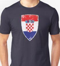 Flagge von Kroatien Slim Fit T-Shirt