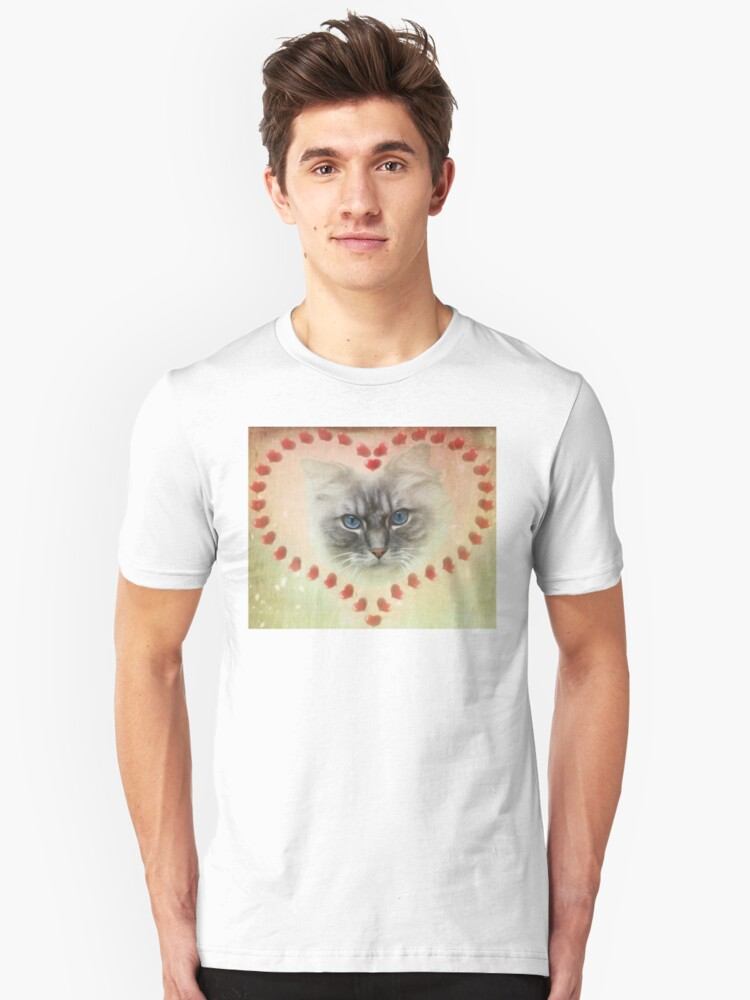 Valentine Cat T-Shirt and Stickers Unisex T-Shirt Front