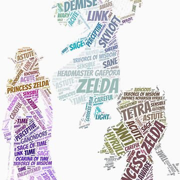 Various Wordle Zeldas by LinkXavier