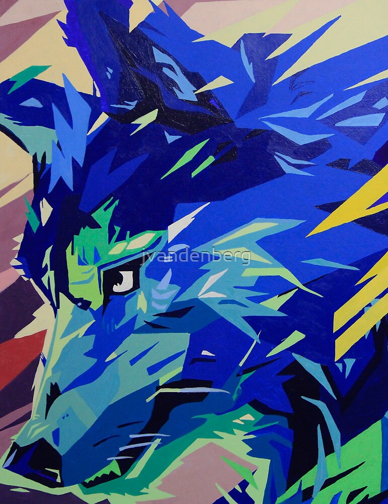 """""""Fragments of Nature, Wolf"""" by jvandenberg"""
