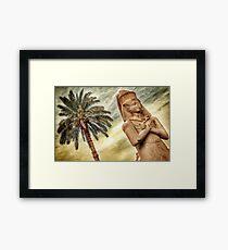 Egyptian Statue Framed Print