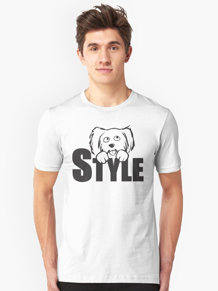 Cute Doggy Style Unisex T-Shirt Front