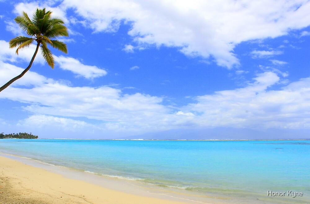 South Pacific Beach - Moorea Island by Honor Kyne