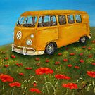 Vintage VW Bus by Allegretto