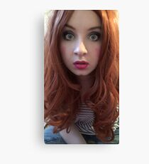 Karen Gillan Makeup (Photoshoot) Canvas Print