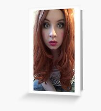 Karen Gillan Makeup (Photoshoot) Greeting Card
