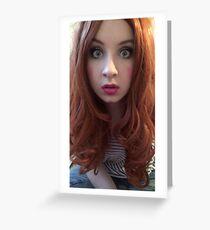 Karen Gillan Makeup (Photoshoot) Greeting Card