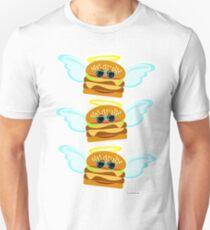 Three Flying Cheeseburgers Unisex T-Shirt
