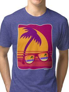 Sunglasses at Sunset Tri-blend T-Shirt