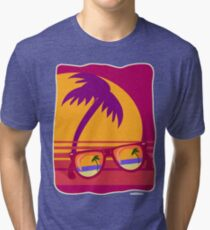 Sunglasses at Sunset Tri-blend T-Shirt
