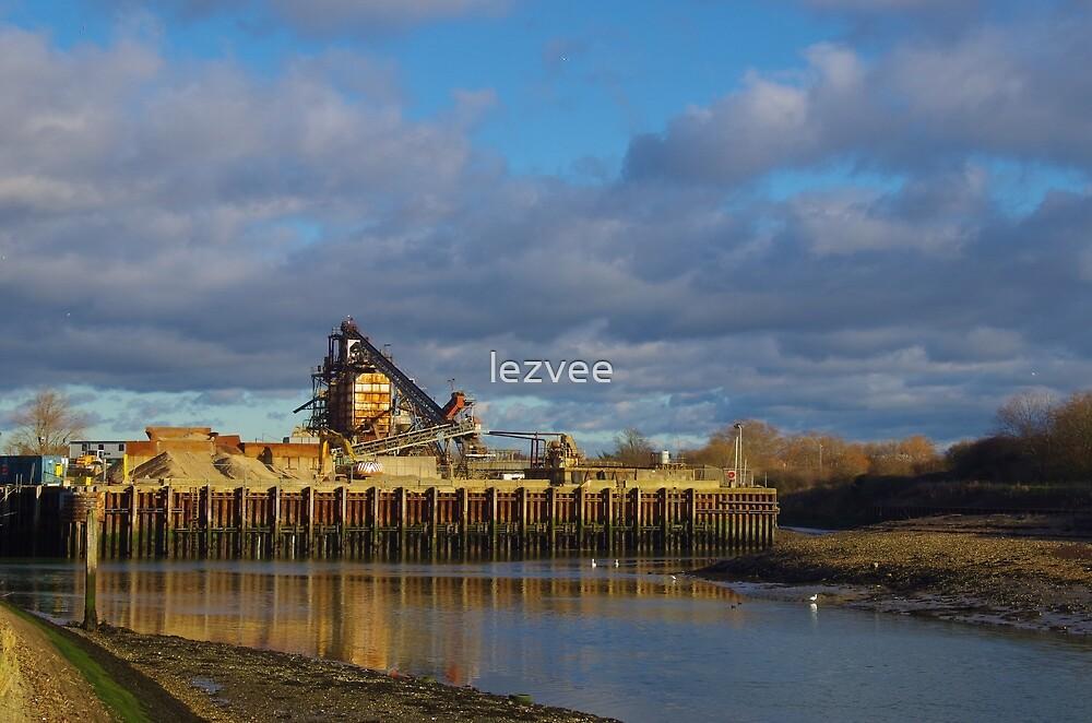 Shingle Depot, Langstone Harbour by lezvee