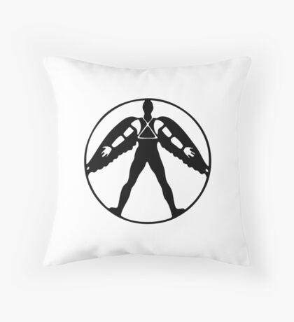 Icarus (black on light) Throw Pillow