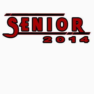 Senior 2014 Red by CutlineDesigns