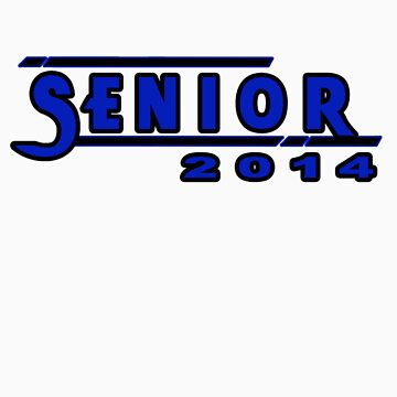 Senior 2014 Dark Blue by CutlineDesigns