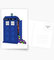 Police Box Yarn Box Postcards