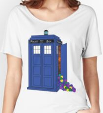 Police Box Yarn Box Women's Relaxed Fit T-Shirt