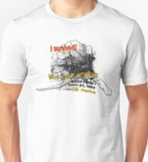 I SURVIVED GREAT ALASKA EARTHQUAKE W/ AK SILHOUETTE Unisex T-Shirt
