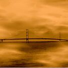 Mackinac Bridge ~ Michigan by Marie Sharp