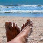 Beach Feet Portrait  by Heather Friedman