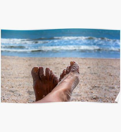 Beach Feet Portrait  Poster