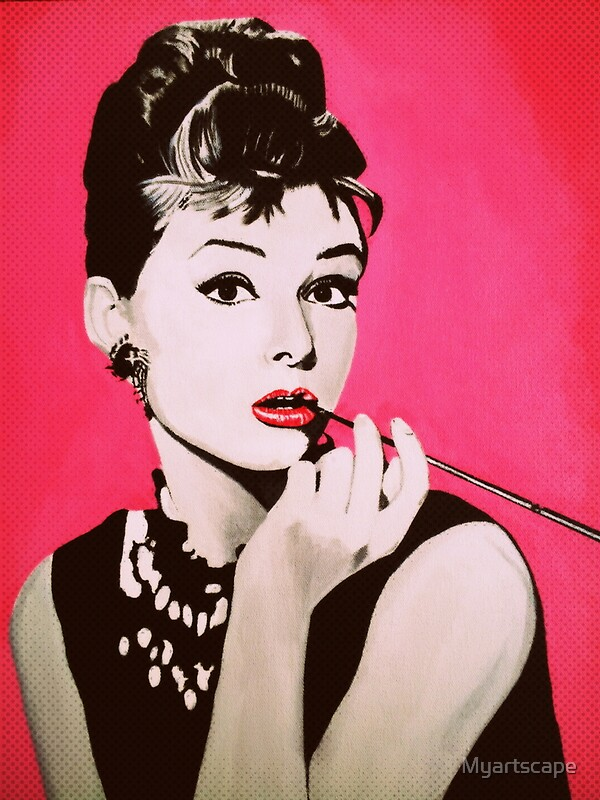 Quot Audrey Hepburn Acrylic Painting Quot Greeting Cards By
