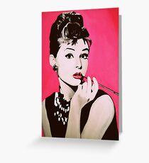 Audrey Hepburn Acrylic Painting Grußkarte