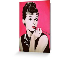 Audrey Hepburn Acrylic Painting Greeting Card