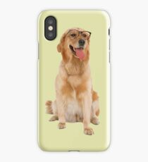 Dog with glasses iPhone Case