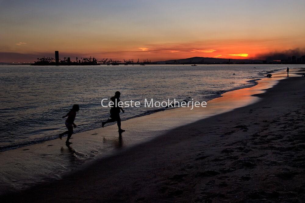 Sunset playtime by Celeste Mookherjee