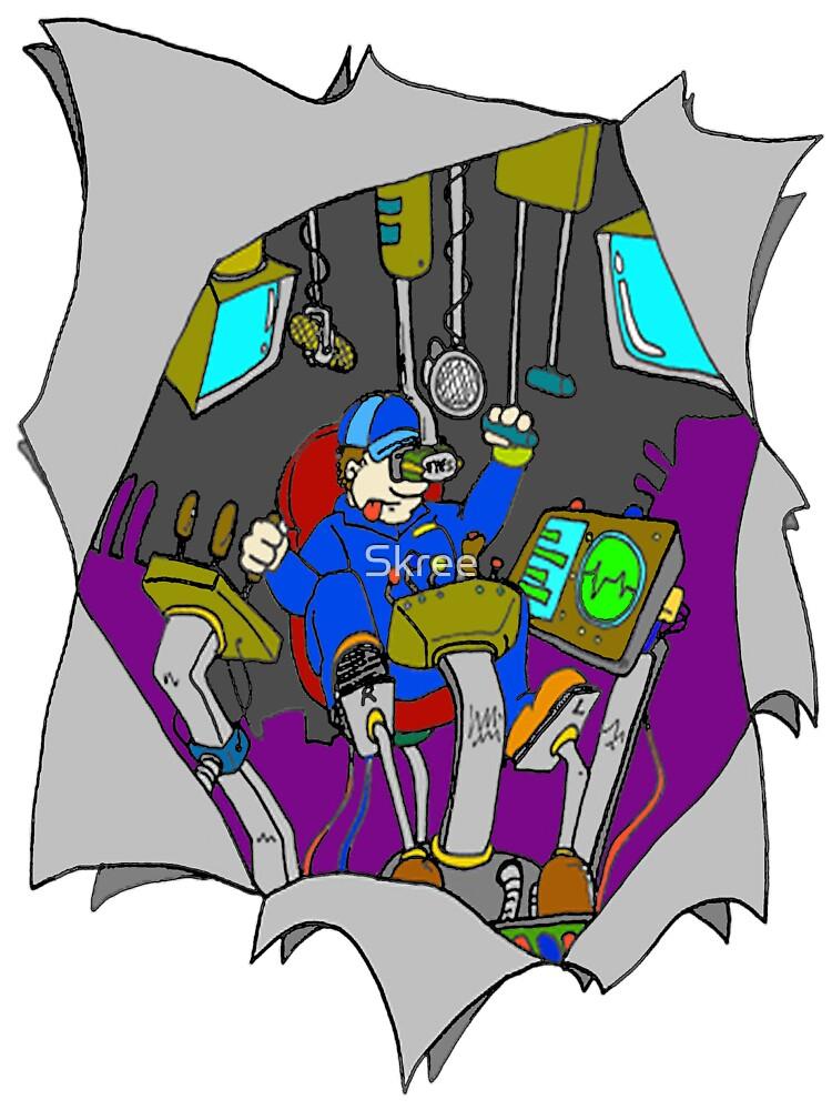 Man in the Machine by Skree