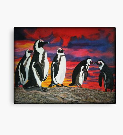 African Penguins Canvas Print