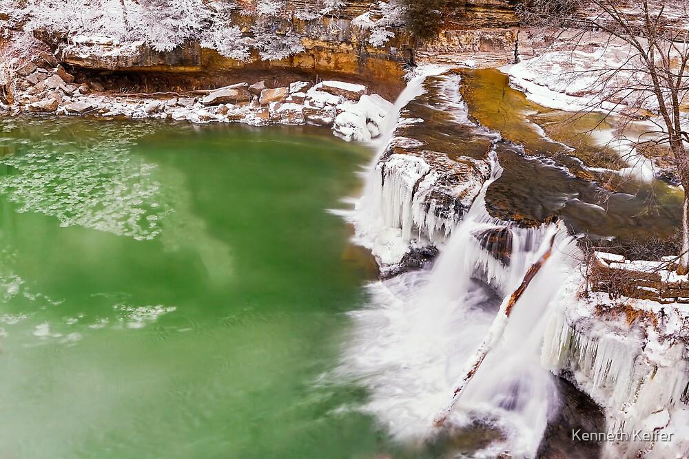 Frozen Upper Cataract Falls by Kenneth Keifer