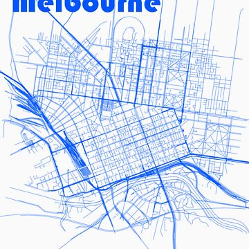Melbourne Map by gianamaps