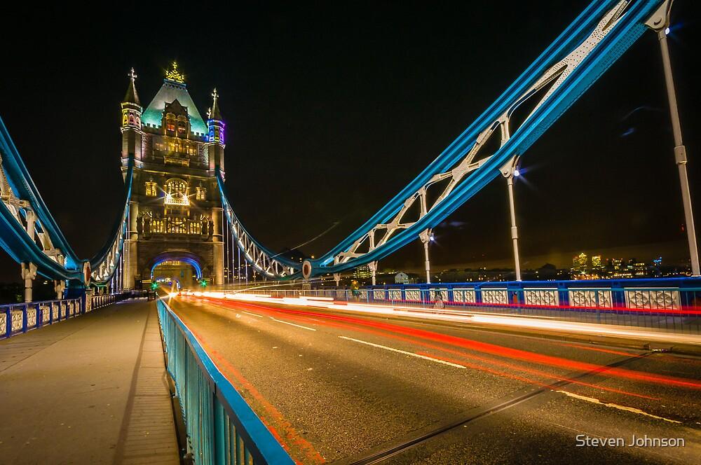 Tower Bridge Lights by Steven Johnson
