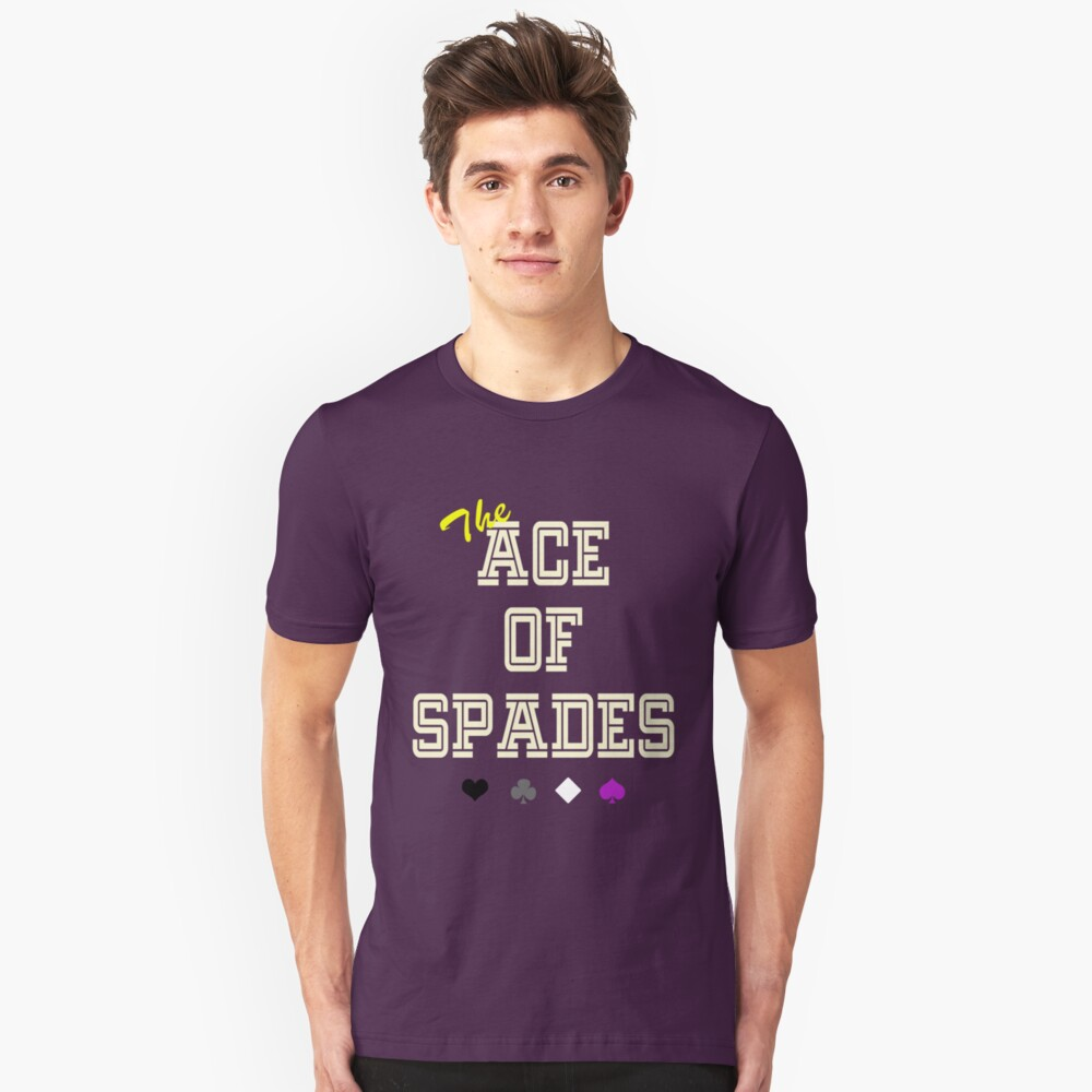 The Ace of Spades Unisex T-Shirt Front