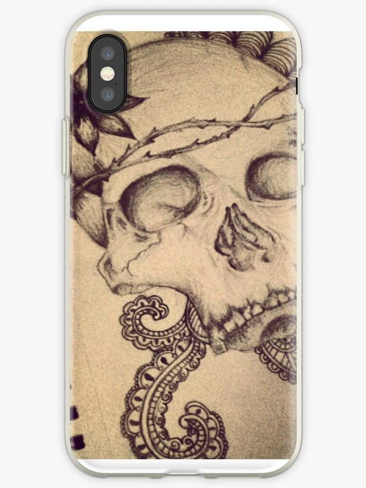 skull doodle / tattoo style by laurenprobert