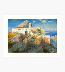 Spanish Villa painting Art Print