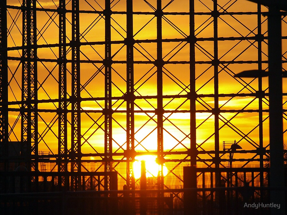 Gas Holder Sunset by AndyHuntley
