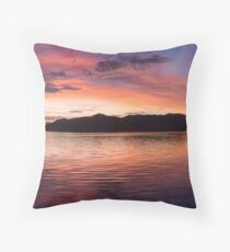 Sunset Before Typhoon Yolanda Throw Pillow