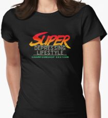 Super Depressing Lifestyle Women's Fitted T-Shirt