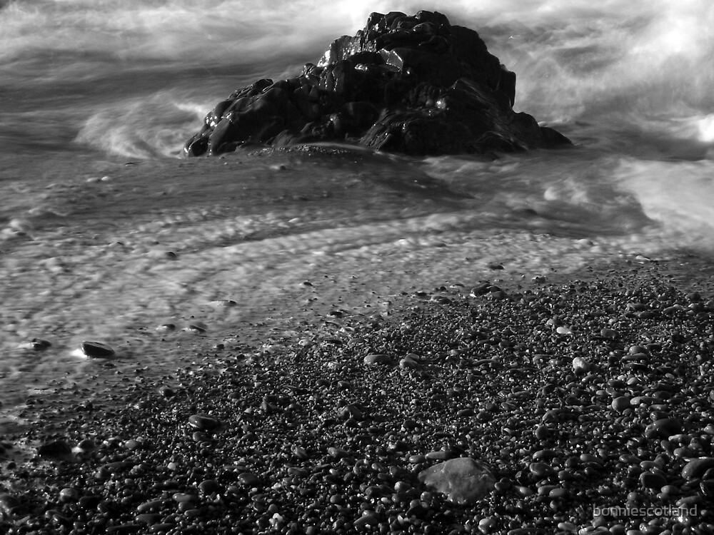 Rock in the waves by bonniescotland