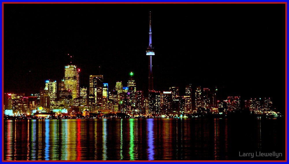 Toronto by Night by Larry Llewellyn