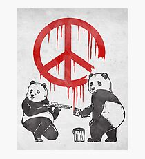Pandalism 2 Peace Sign Photographic Print