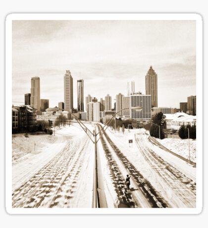 Atlanta Snowpocalypse 2014 - Rick Grimes on Freedom Parkway Sticker